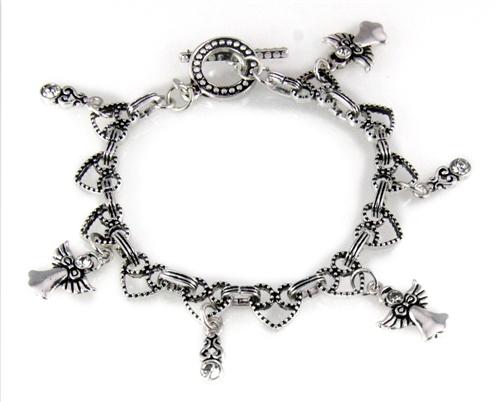 4030007 Angel Charm Bracelet Intricate Ornate Filigree Detail Christian Inspi...