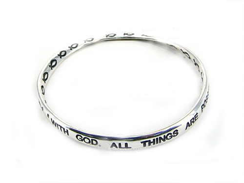 4030016 Scripture Religious Bracelet Matthew 19 26