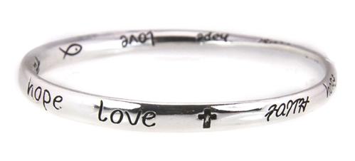 4030030 Scripture Religious Bracelet Faith Hope Love Bangle
