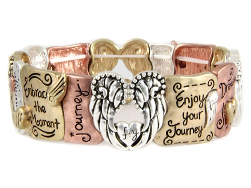 4030157 Embrace The Moment Enjoy The Journey Stretch Bracelet