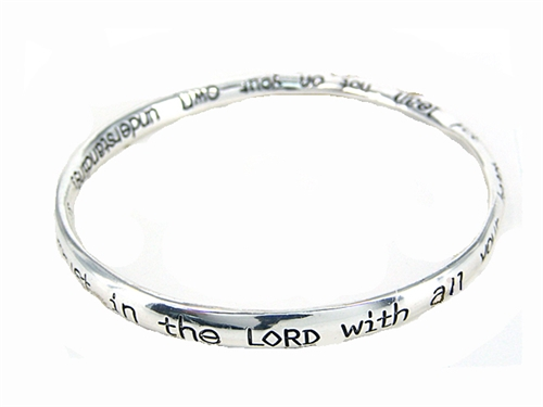 4030198 Jesus Christian Bracelet Religious Bible Proverbs 3:5-6
