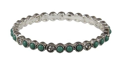 4030335 Simulated Turquoise Fashion Stretch Bracelet