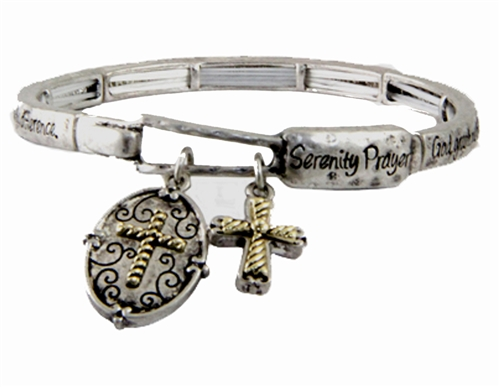 4030342 Serenity Prayer Stretch Bracelet  AA 12 Step