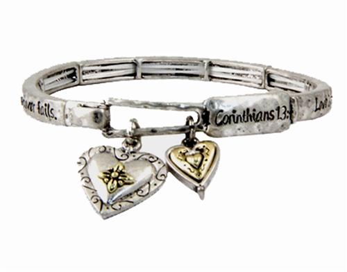 Stretch Bracelet Love Is Patient