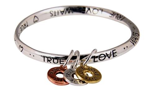 4030427 True Love Waits Twisted Bangle with Charms TLW