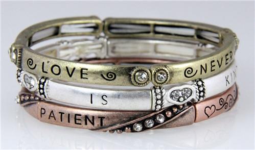 4030472 3 Piece Bracelet Set Love Is