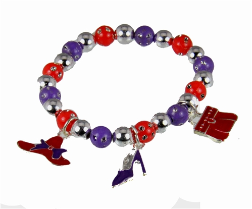 4030484 Red Hat Society Club Lightweight Resin Stretch Bracelet