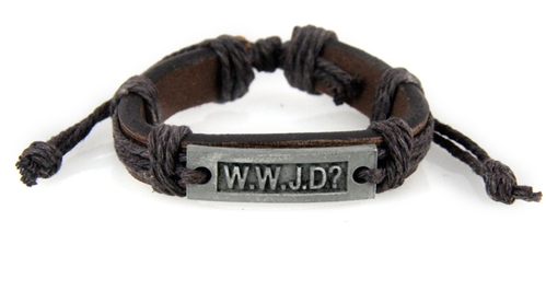 4030534 Wwjd What Would Do Leather Bracelet Scripture I