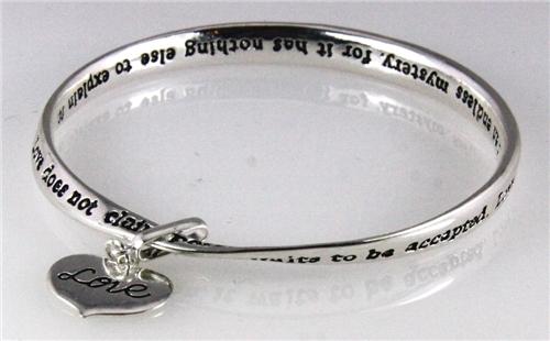 4030646 Love Verse Twisted Bangle Bracelet Corinthians 13 Scripture