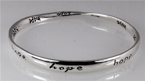 4030649 Hope Twisted Bangle Bracelet Inspirational Encouragement