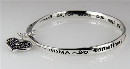 4031284 Grandma Tribute Prayer Twisted Bangle Bracelet Gift Grandmo