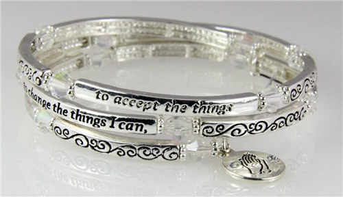 4031299 Serenity Prayer Coil Bracelet Grant Me The Aa Friend Of