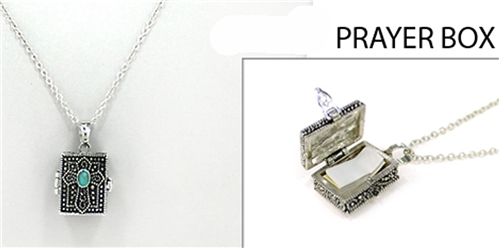 4031468 Prayer Locket Necklace Cross Christian Religous Keepsake Heirloom