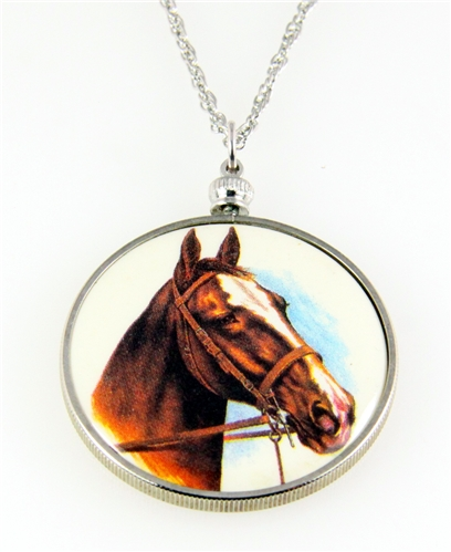 4031504 Horse Pendant Necklace Equine Equestrian Western Theme Cowgirl