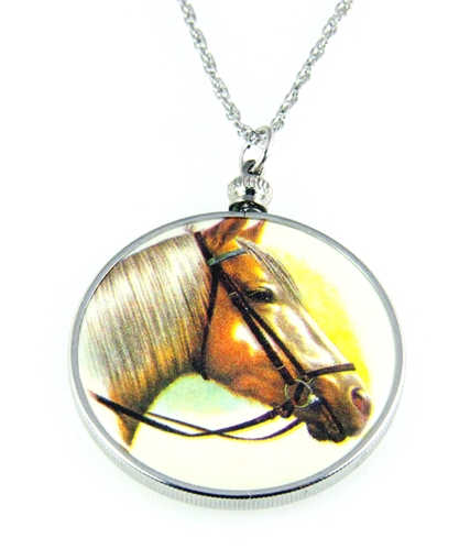 4031506 Horse Pendant Necklace Equine Equestrian Western Theme Cowgirl
