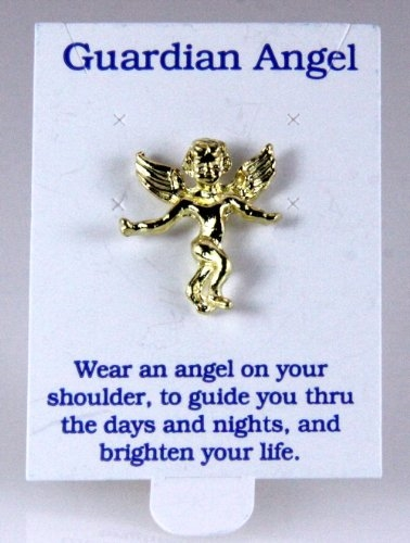 6030351 Angel Pin Brooch Tie Tack 14kt Gold Plated Made In