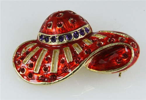 6030014 Ladies Red Hat Society Club Pin Brooche Clothes Clothing Redhat