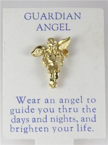 6030121 Guardian Angel Lapel Pin Tack Brooch July Ruby