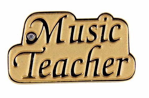 6030139 Music Teacher Lapel Pin Brooch Gift Choir High School Jr High