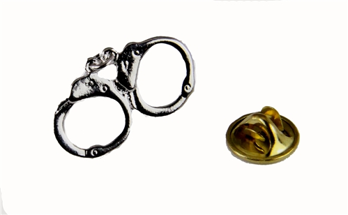 6030180 Handcuffs Lapel Pin Police Office Uniform Hand Cuffs Law Enforcement