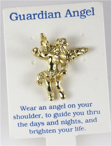 6030282 guardian angel lapel pin brooch tack pin christian
