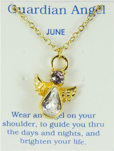 june birthstone necklace moonstone