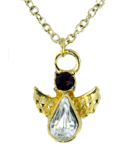 6030425 July Birthstone Angel Necklace Pendant Guardian Secret Appreciation R...