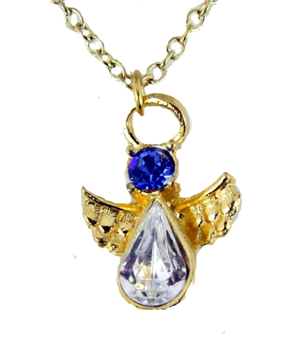 6030427 September Birthstone Angel Necklace Pendant Guardian Secret Appreciat...