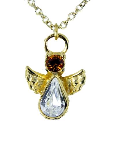 6030429 November Birthstone Angel Necklace Pendant Guardian Secret Appreciati...