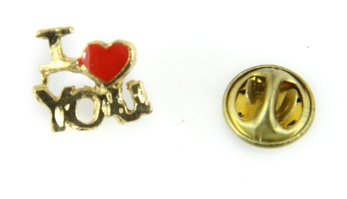 6030456 I Love You Lapel Pin Red Heart Brooch Tie Tack Valentines Christian J...