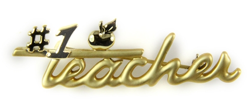 6030478 #1 Teacher Brooch Pin Teacher Appreciation Year End Gift Present