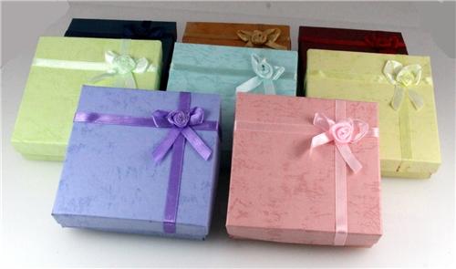 72 Pieces Jewelry Bracelet Boxes Bow Tie Satin Ribbon and Bow BowtieGift Box