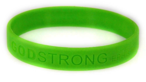 8020014 Set of 3 Green Child Embossed Godstrong Silicone Band Eph. Ephesians ...