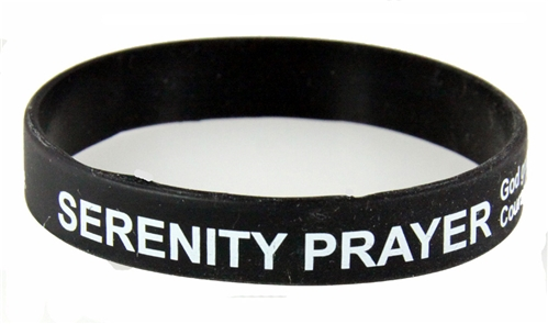 8090001 Set of 3 Serenity Prayer Silicone Bracelet Rubber God Grant Me AA ...