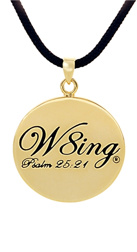 SH056 NNBC W8ing Engraved Purity Abstinence Promise Pendant Necklace