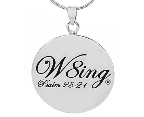 SH056 NNHC W8ing Engraved Purity Abstinence Promise Pendant Necklace