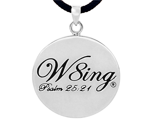 SH056 NNHCo W8ing Engraved Purity Abstinence Promise Pendant Necklace