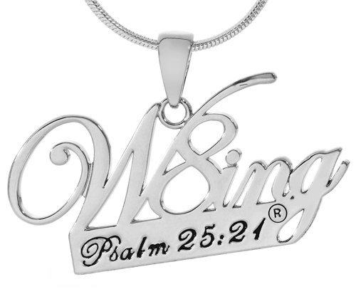 SH065 NNHCh W8ing Engraved Purity Abstinence Promise Cut Out Pendant Necklace