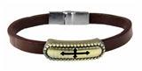 4030001 Christian Cross Leather Bracelet Religious Fashion Inspirational