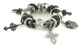 4030006 Christian Scripture Religious Cross Charms Stretch Bracelet