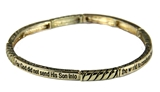 4030018 John 3:17 Petite Stretch Bracelet Stackable For God Did Not Send Scripture
