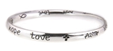 4030030 Christian Scripture Religious Bracelet Faith Hope Love Bangle