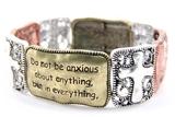 4030036 Christian Scripture Religious Bracelet Philippians 4:6-7