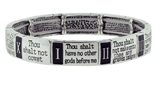 4030037 10 Commandments Stretch Bracelet Christian Scripture Religious Thou S...