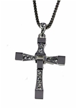 4030038 Cross Necklace Christian Fashion Bling Hollywood Celebrity High Quality