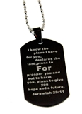4030043 Jeremiah 29:11 Dogtag Necklace For I Know The Plans I Have For You