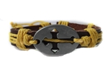 4030050 Cross Leather Bracelet Christian Religious Scripture Inspirational