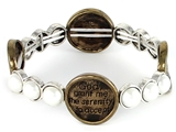 4030091a Serenity Prayer Stretch Bracelet Christian Scripture Religious AA NA...