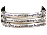 4030093a Serenity Prayer Stretch Bracelet Christian Scripture Religious AA NA...