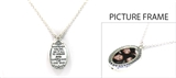 4030119 Christian Metal Cross Leather Religious Bible Scripture Necklace